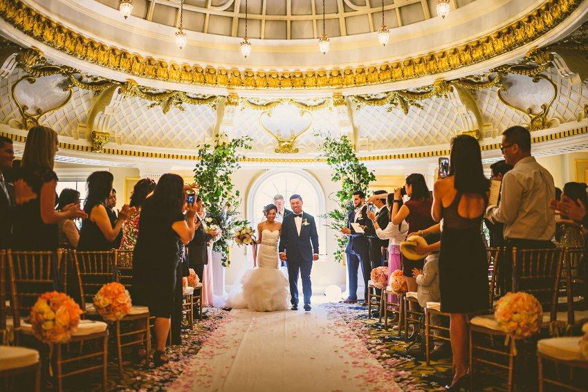 Downtown Boston wedding ceremony exit
