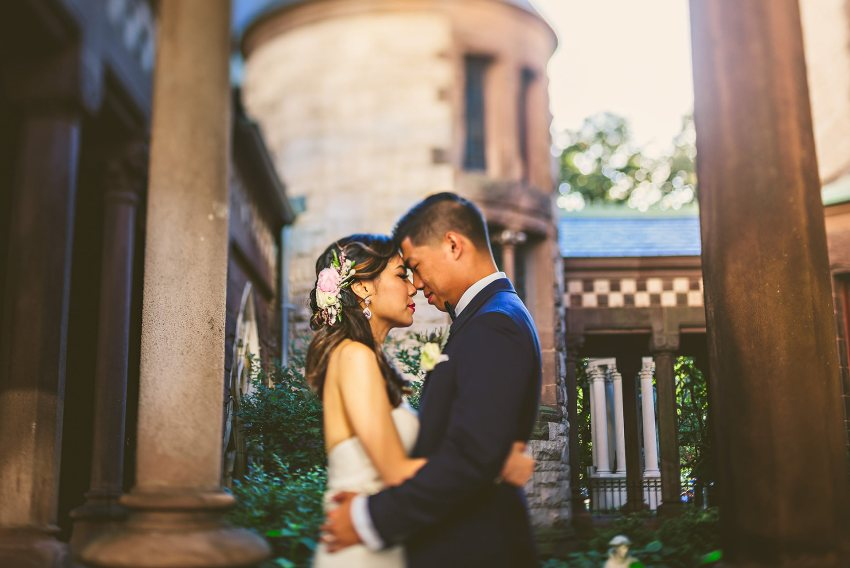 Downtown Boston wedding portraits at Trinity Church