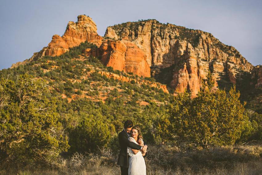 Sedona sunset wedding portrait