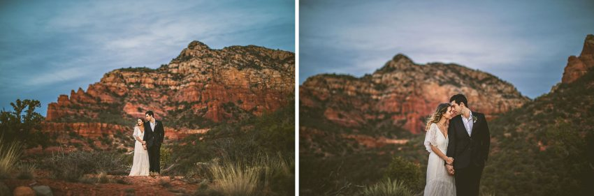 Arizona sunset elopement