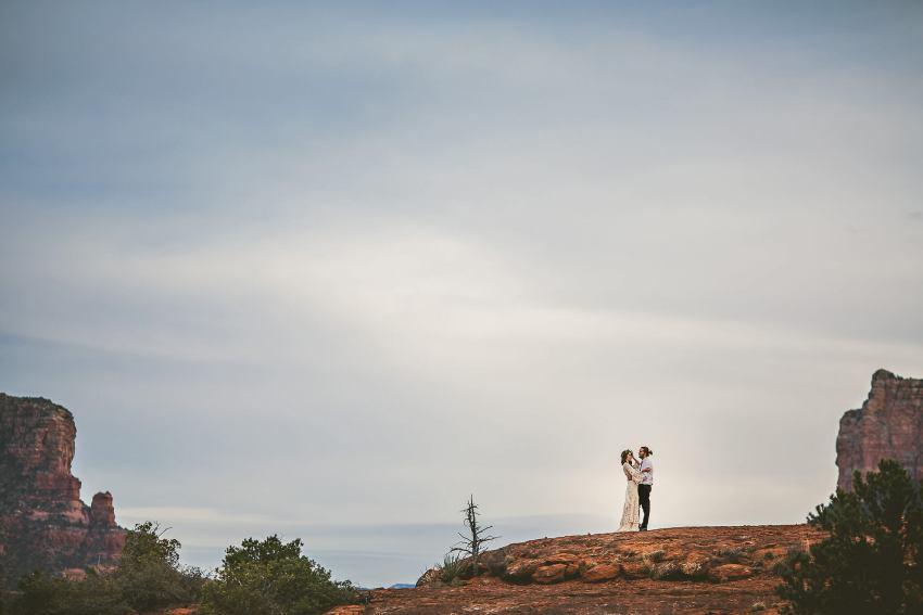 Sedona Cathedral Rock elopement portrait