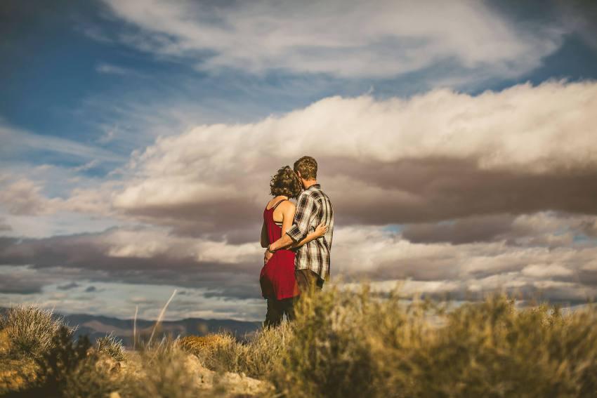 Arizona desert sunset portrait