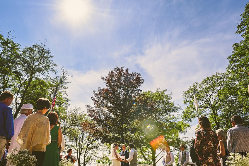 Colt State Park wedding ceremony