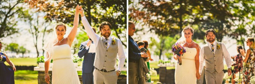 Rhode Island outdoor wedding recessional