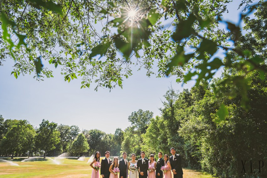 Wedding party portraits in Lexington