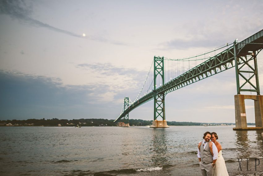 Mount Hope Bridge wedding portrait