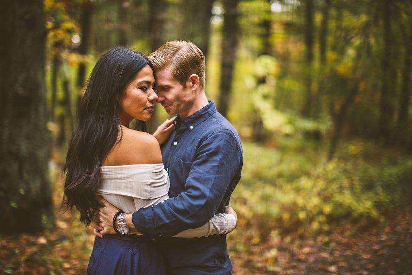 Autumn Middlesex Fells engagement
