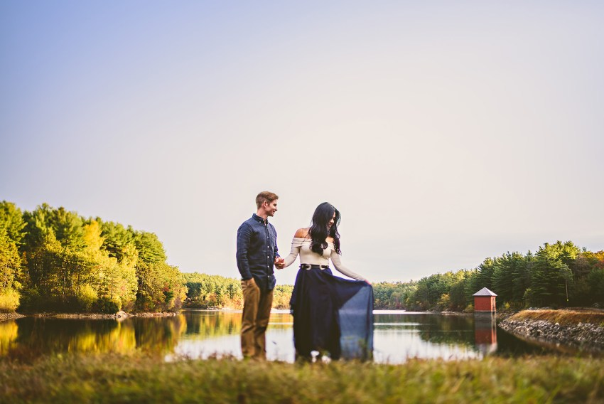 Engagement session at the fells