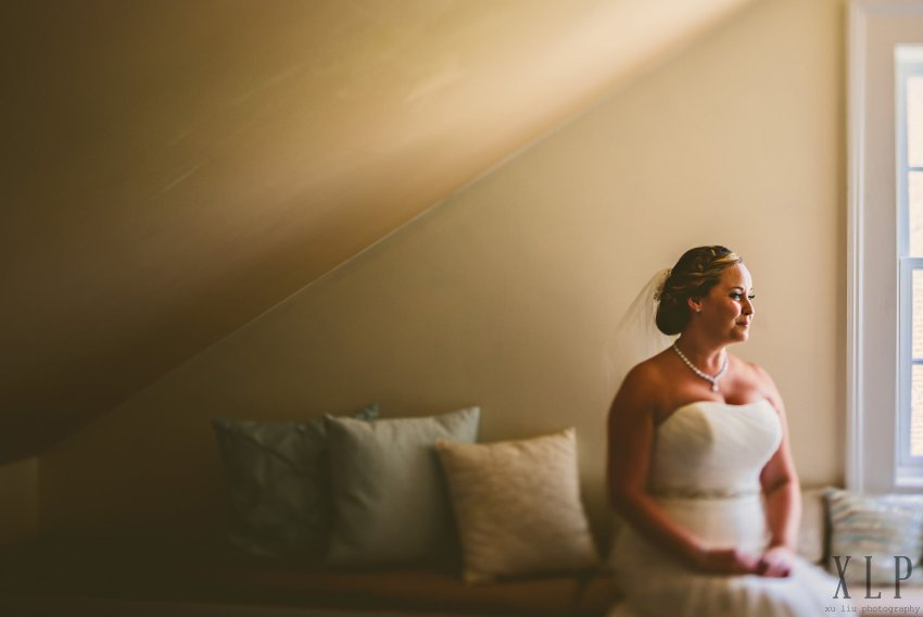 Roger Williams University wedding bridal portrait