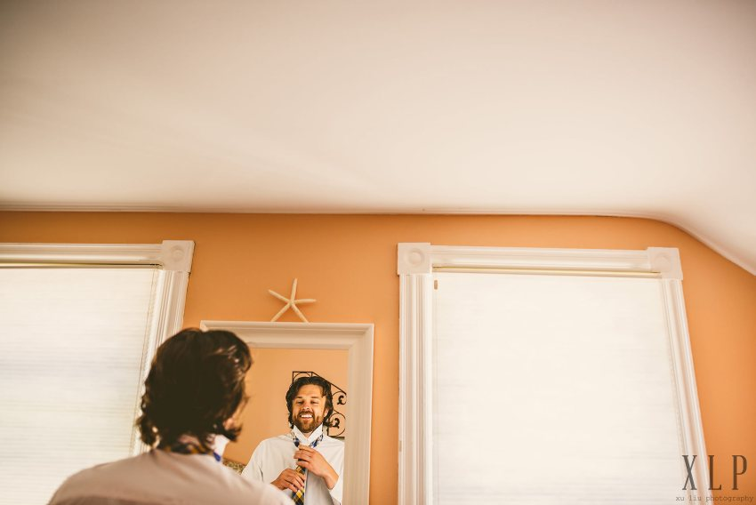 Groom preparation in Rhode Island