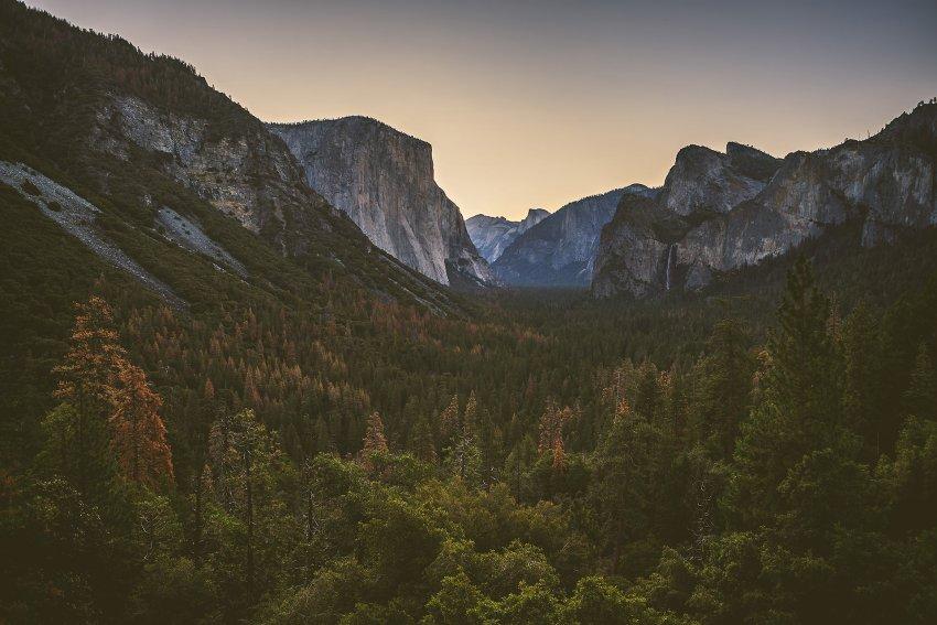 Sunrise at Yosemite Tunnel View
