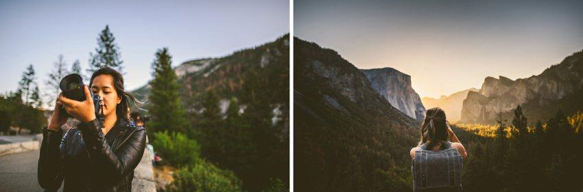 Wedding photographers visit Yosemite