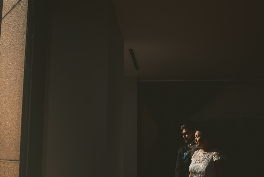Dramatic wedding portrait at the State Room
