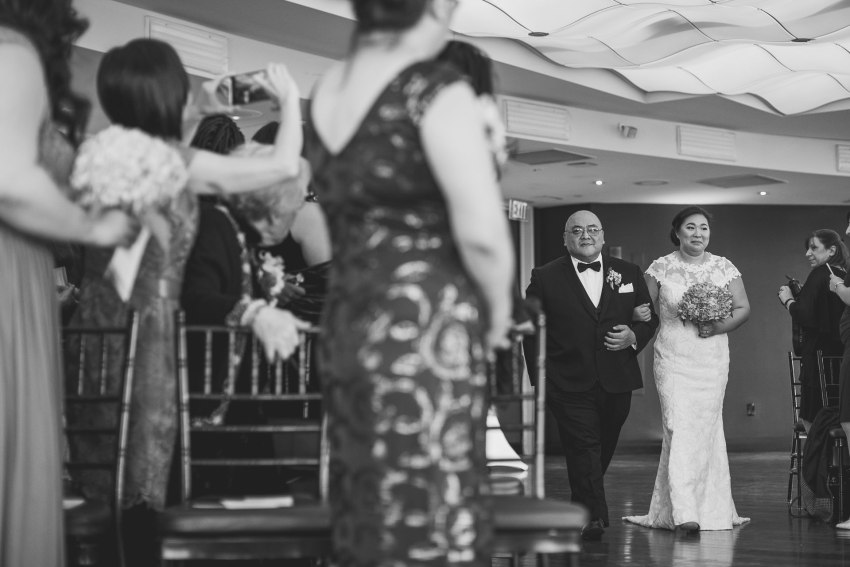 Bridal processional in the State Room
