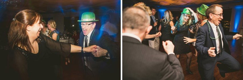 Saint Patrick's Day wedding reception
