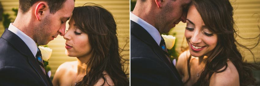 Intimate wedding portraiture