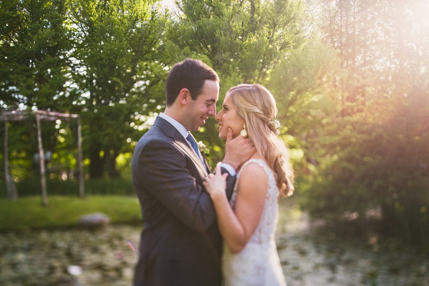 Sunset New York wedding portrait