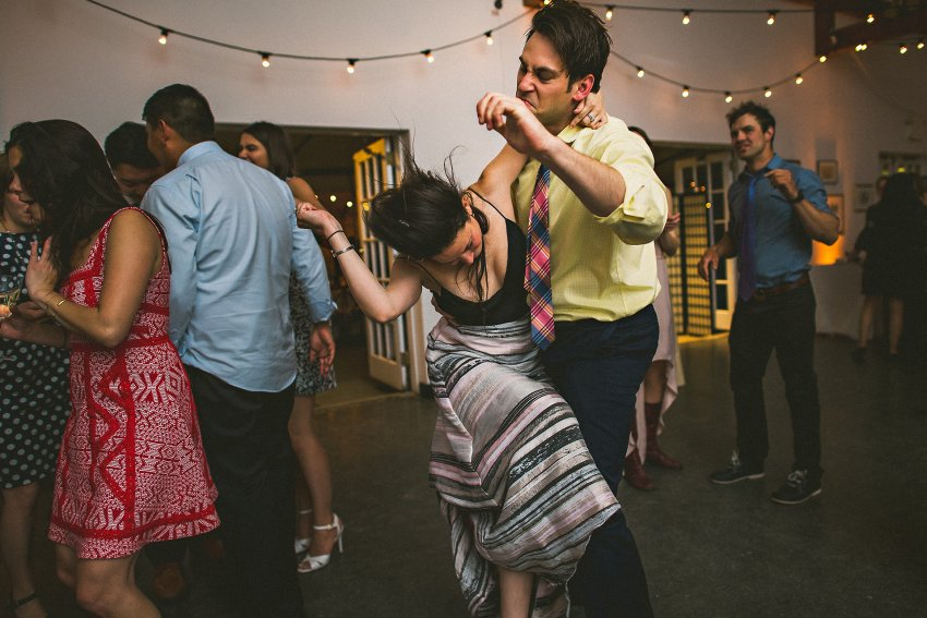 Epic wedding dance party