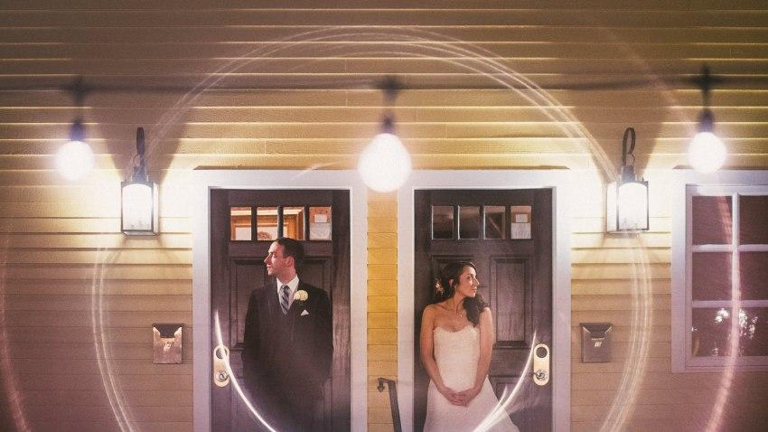 Artistic wedding portrait