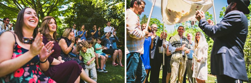 Backyard Jewish wedding