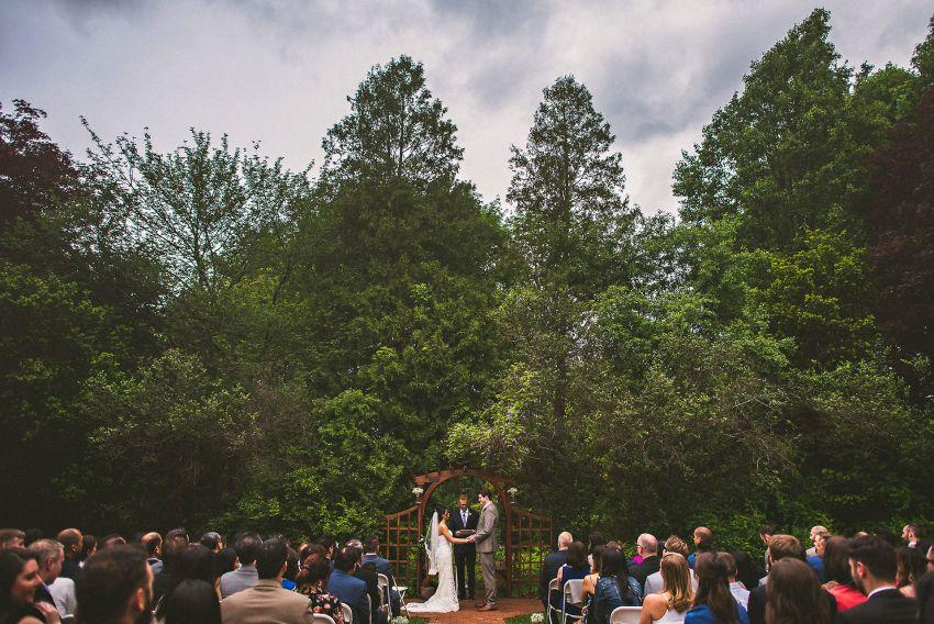 Smith Barn wedding ceremony