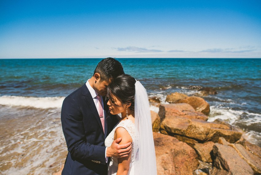 Intimate South shore wedding portraits