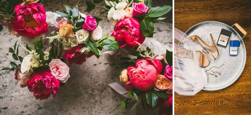 Colorful spring wedding flowers