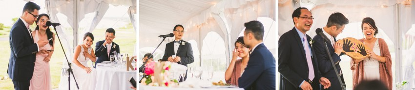 Heartfelt wedding toasts