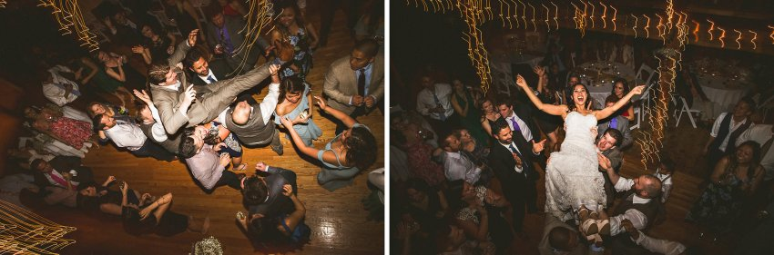Bride and Groom dancing in Smith Barn