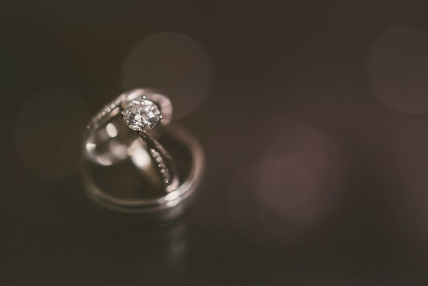Sparkly wedding rings