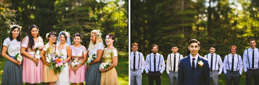 Rhode Island backyard wedding party
