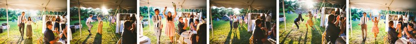Backyard wedding reception announcements