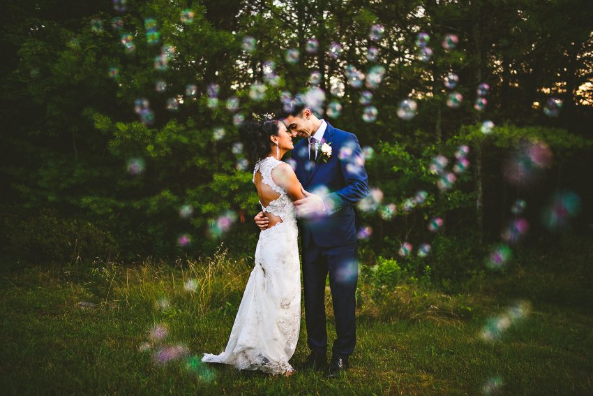 Providence wedding pictures with bubbles