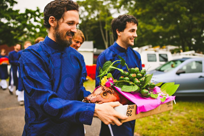 Groomsmen before Attleboro Vietnamese wedding