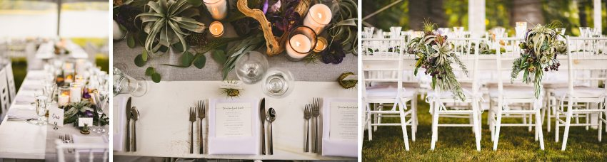 Kittery backyard wedding details