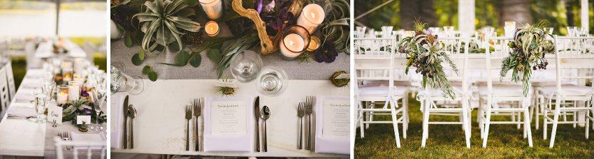 Kittery backyard wedding details