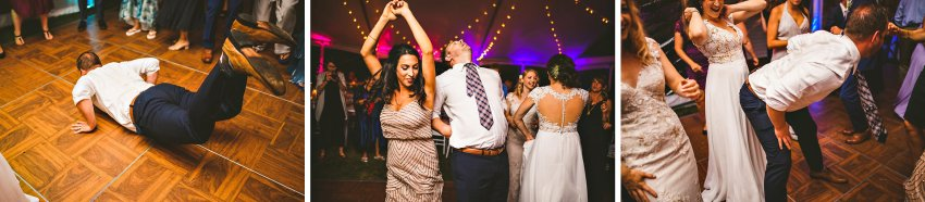 Energetic dancing wedding guest