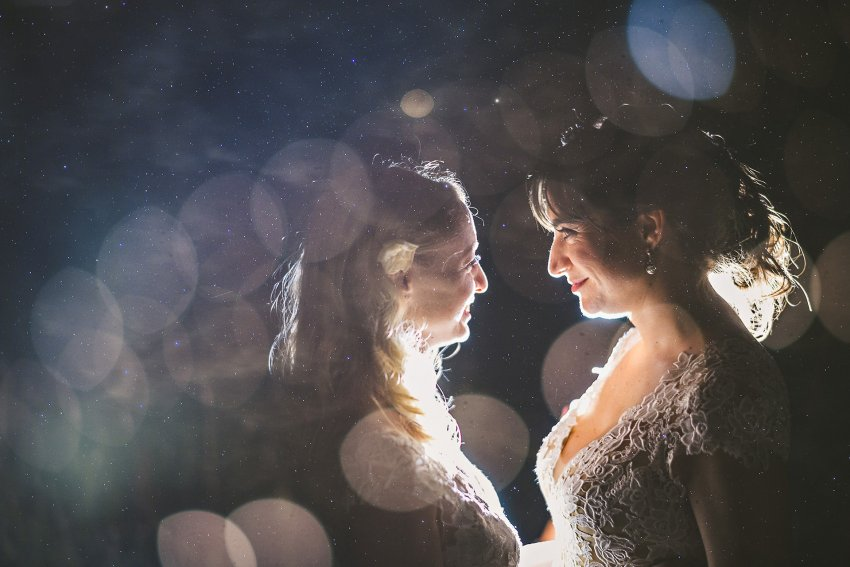 Kittery backyard wedding night multiple exposure