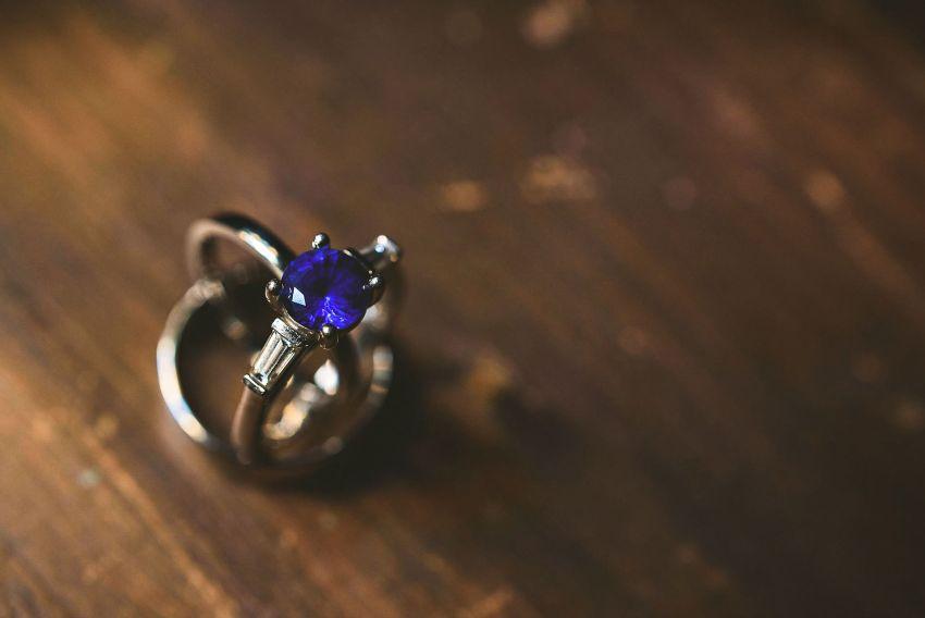 Portland sapphire wedding rings
