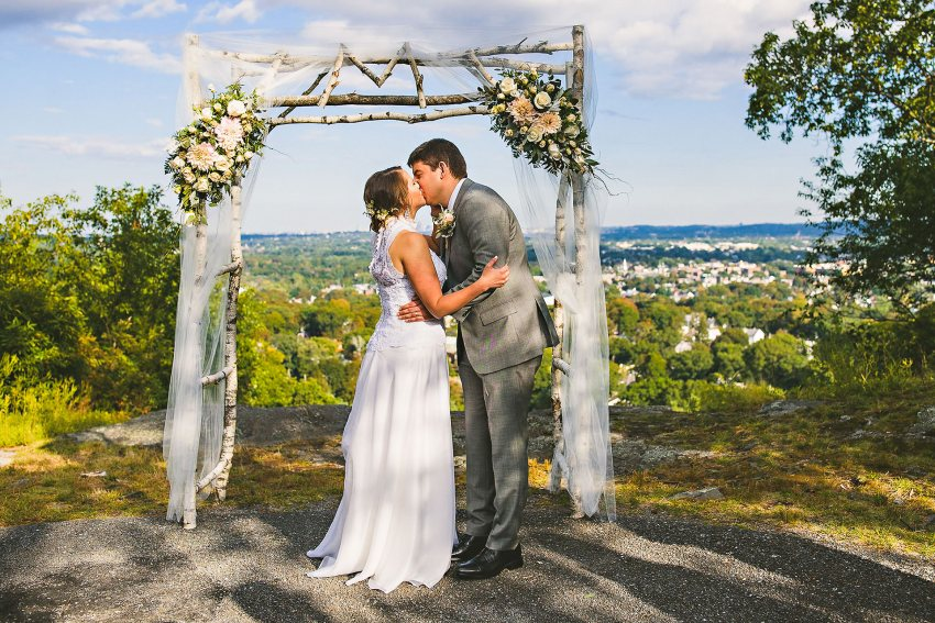 Waltham Prospect Hill Park wedding ceremony