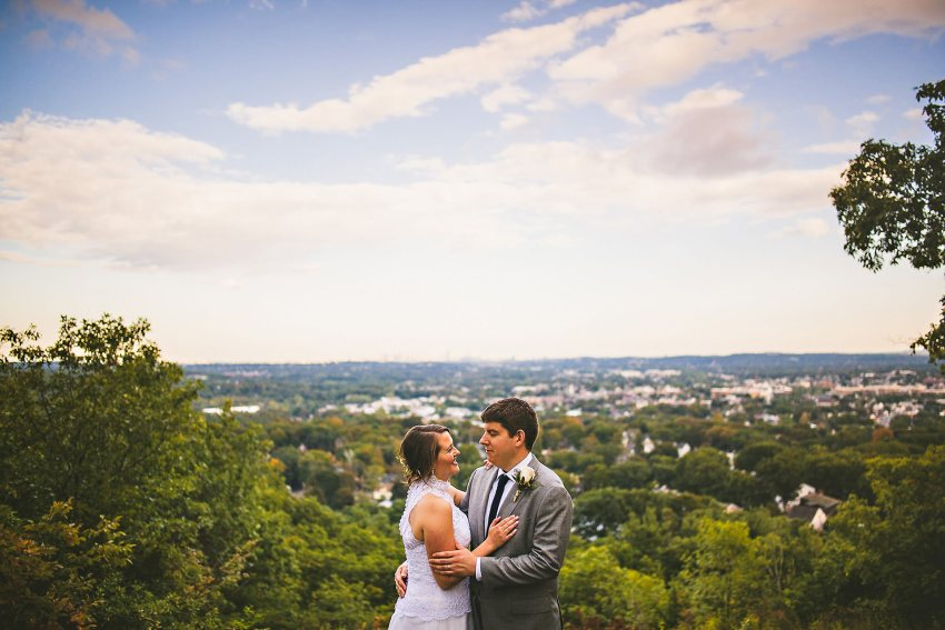 Prospect Hill Park overlook wedding portrait