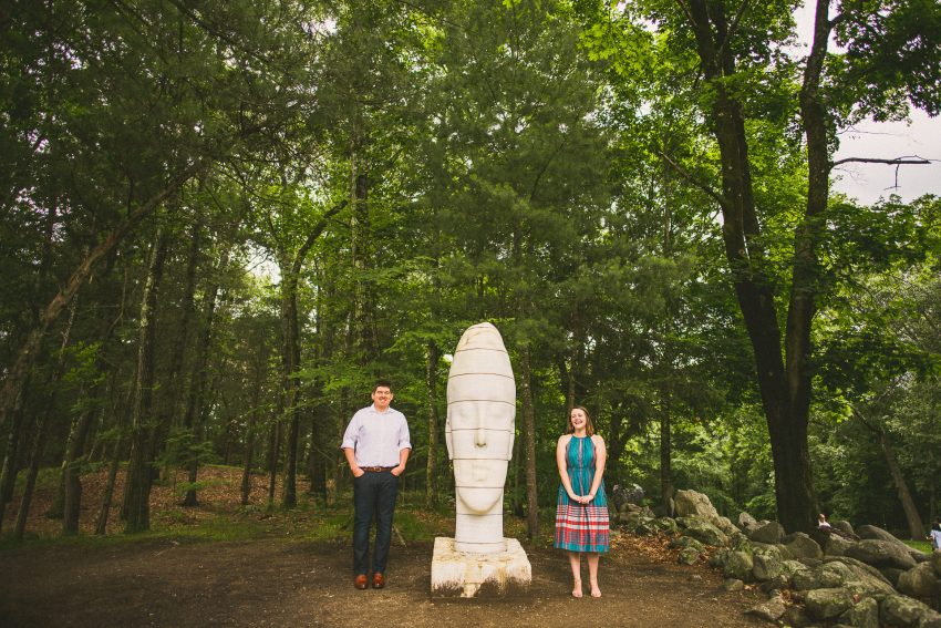 Sculpture Garden engagement portraits