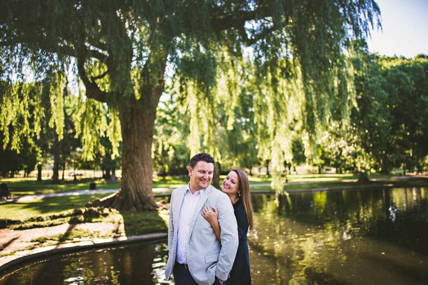 Public Garden couple portraits