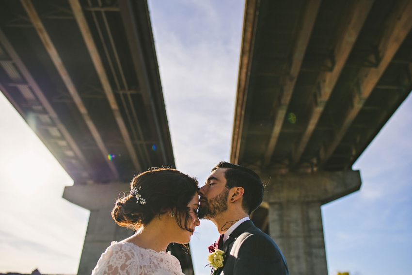 Manchester bridge underpass wedding pictures