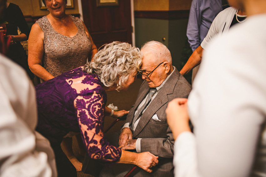 Mother of bride with grandfather