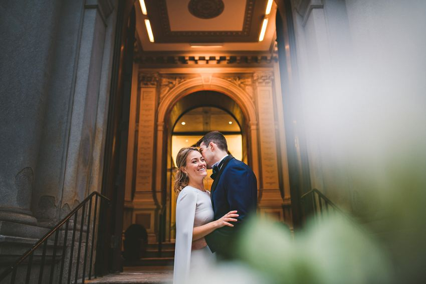Boston City Hall wedding portrait