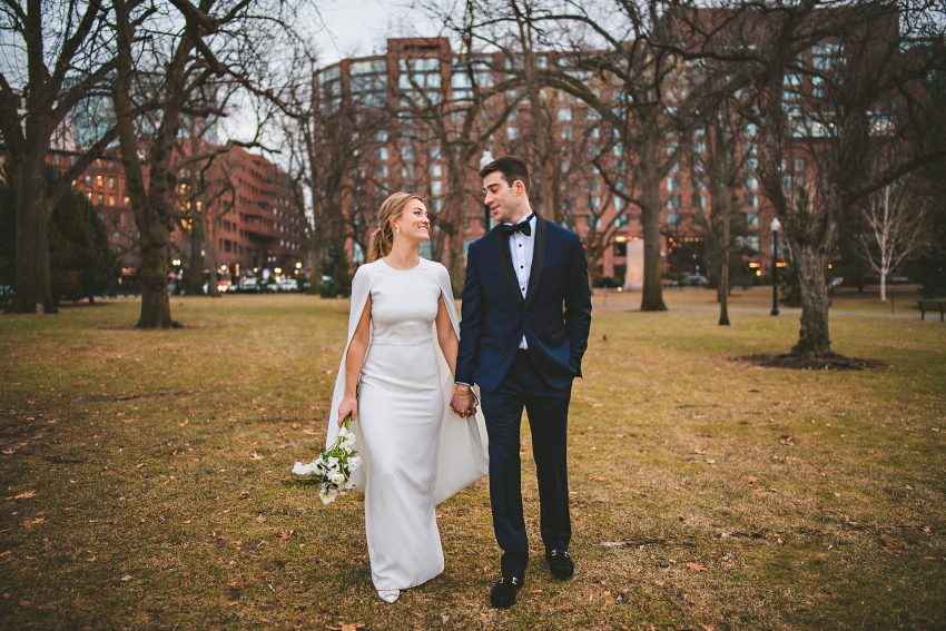 Boston Public Garden wedding portraits