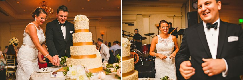 New Hampshire wedding cake cutting