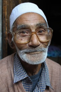 Man we met while walking in the neighborhood markets of Srinagar, Kashmir