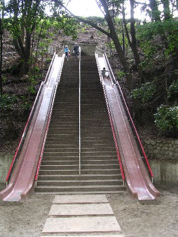 External Integrated Stairs and Slide in Japan